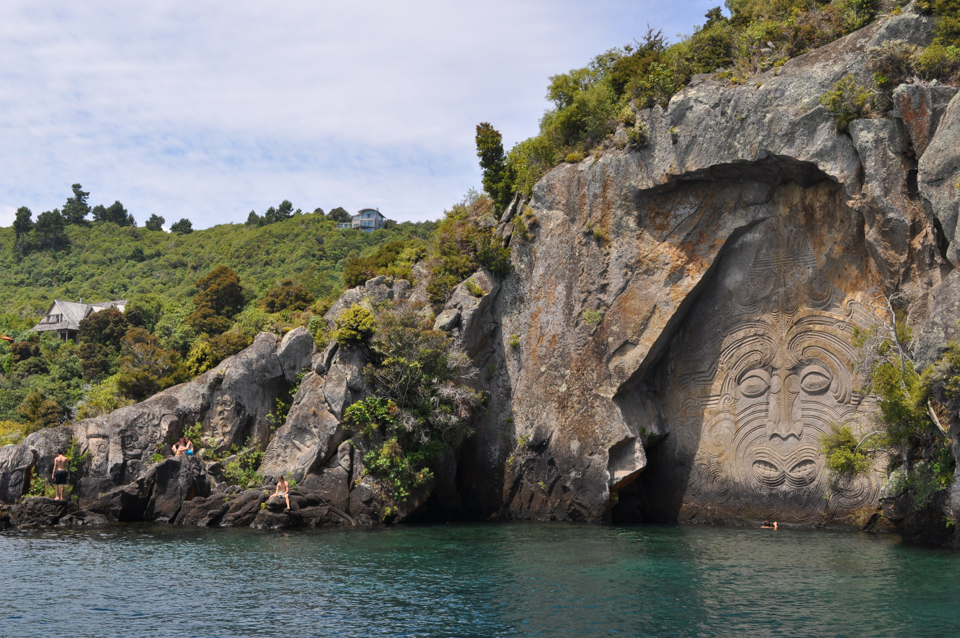 The maori rock carvings life on our backs